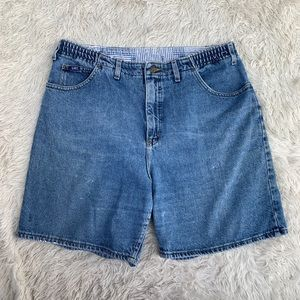 VINTAGE LEE HIGH WAIST MOM WEDGIE FIT JEAN SHORTS
